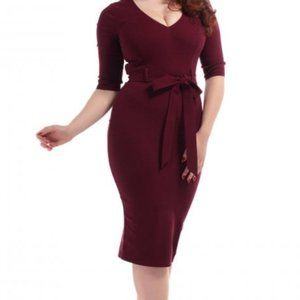 Collectif Vintage Mainline Meadow Pencil Dress 6